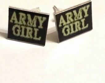 45 Army Girl Earrings
