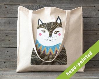 cat purse / cat tote bag/ cat lover gift/ totes / canvas bag/ canvas tote bag/ cat handbag/ handbag/ cats/ eco bag/ cat / tote/ bag