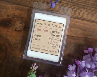 FRESH LILAC Soy Wax Melts, Hand Poured Wax Melts, Soy Wax Tarts, Clamshell Melts, Eco Friendly, Home Fragrance, Highly Scented, Gift for her