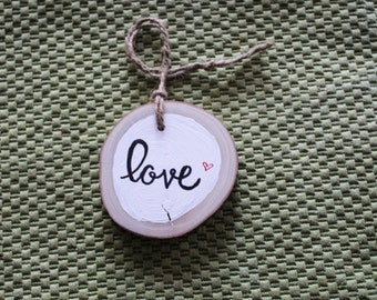 Woodslice Love Ornament