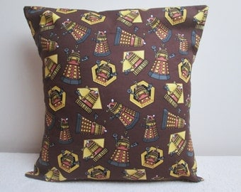 Handmade Dr Who Daleks 'Exterminate' Cushion Cover Pillow Cover 16""