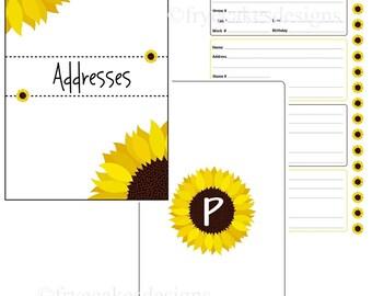 Sunflower Spiral Bound Address Book