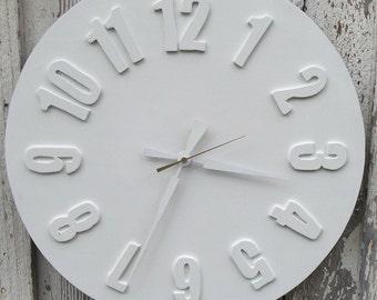 White modern clock 'Precious'