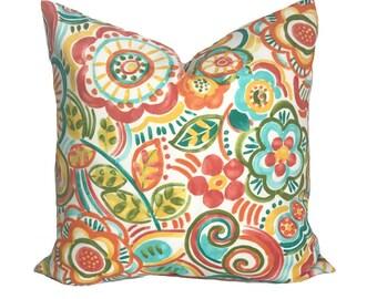 Outdoor pillow, Outdoor pillow cover, Yellow pillow, Blue pillow, Red pillow, Green pillow, Outdoor decorative pillow, 18x18, 20x20