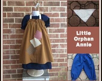 Annie Costume, Annie Dress, Little Orphan Annie, Orphan dress, Orphan costume