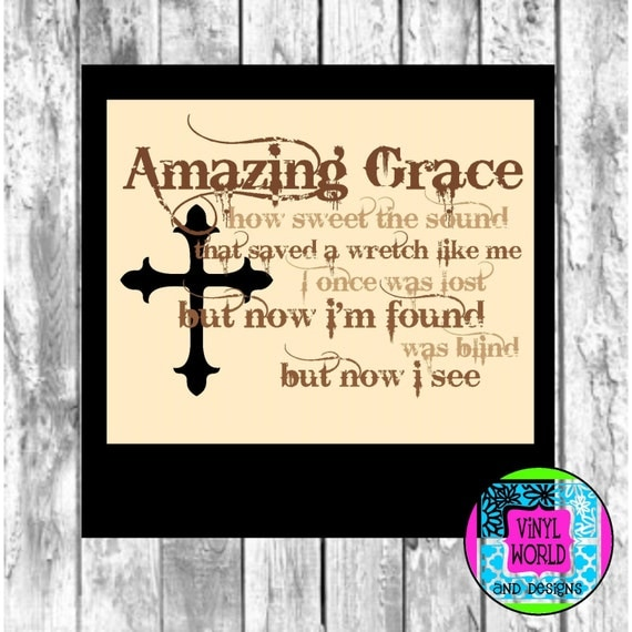 Amazing Svg: Items Similar To Amazing Grace Cut File For Cricut