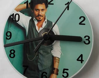 Johnny Depp CD Wall Clock