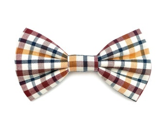 The Whitwell Bow Tie — Dog Bowtie, Made in Brooklyn, Bowtied, Plaid, Christmas, Holiday, Winter, Present, Gift