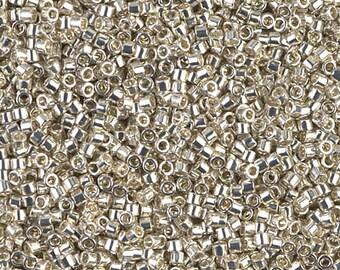 11/0 Galvanized Silver Miyuki Delica DB-35, 6 grams, DB35,  Delica 35