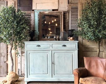 NOW SOLD - Rustic vintage French cabinet / cupboard