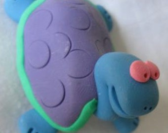 purple turtle pin