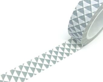 Grey Geometric Triangles Tape 15mm x 10m