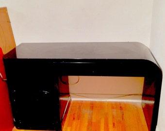 Art Deco lacquered wooden desk