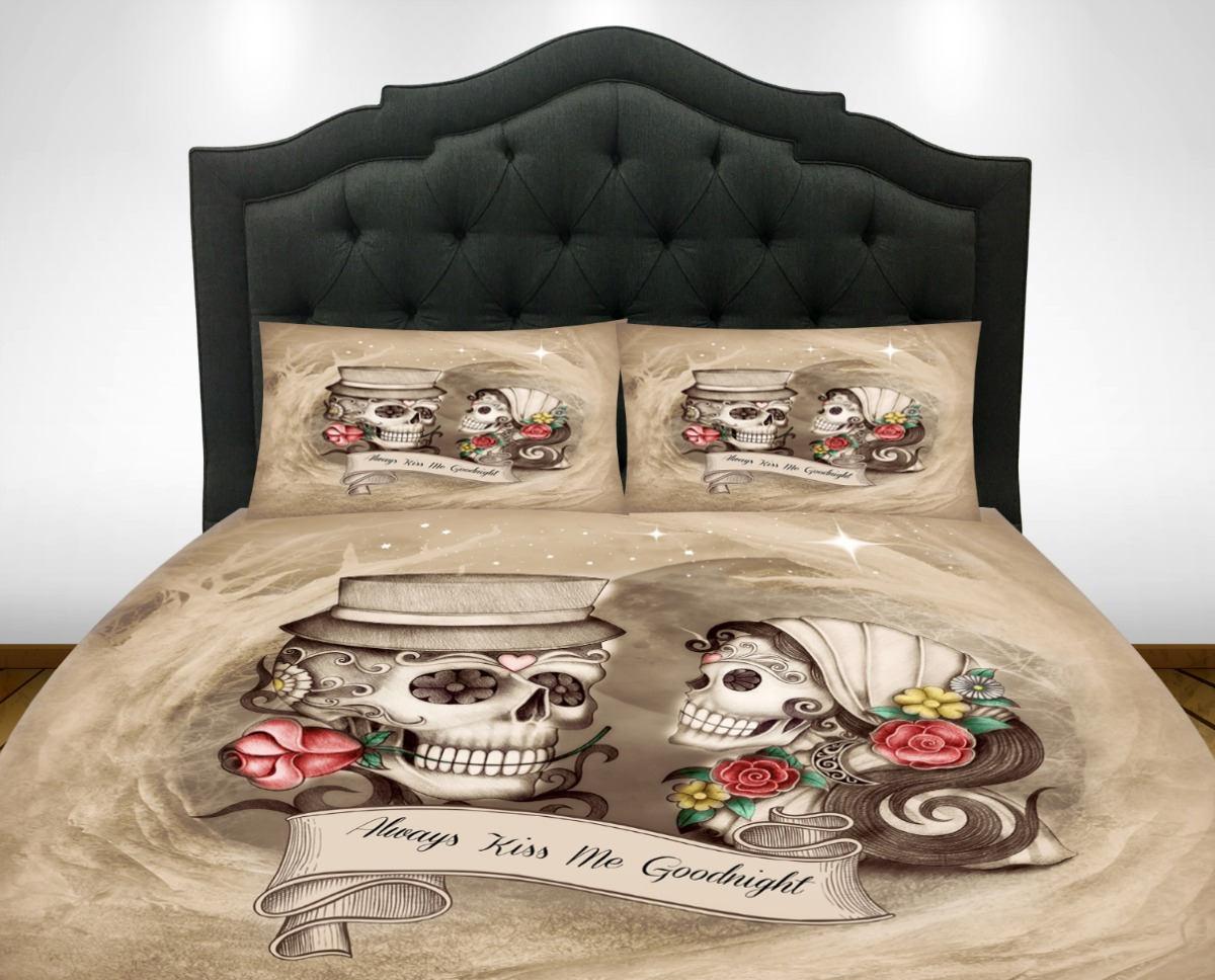 Candy Skull Bedding: Skull Bedding Sugar Skulls Duvet Cover Set Always