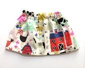 E-I-E-I-O // barn animals skirt // alexander henry // baby and toddler skirt