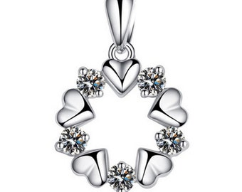 5 Pcs Women's Silver Plated Flower Shaped Charm Pendant Without Chain