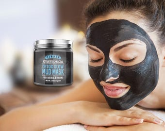 Activated Charcoal Mask, Detox Mask, Acne Mask, Mud Mask, with Free Activated Charcoal Soap Sample by Cinder - Activated Charcoal Mask!