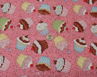Studio E - Sweet Shoppe Cupcakes - Cotton Fabric by the yard - 1646