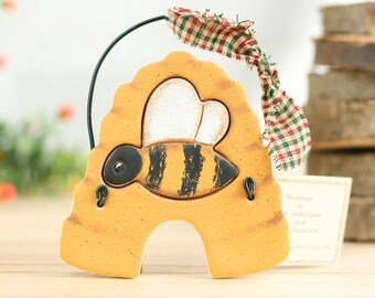 Bee hive primitive wall hanging ornament, Hall decoration, Kitchen decor, ,Bee lovers gift, Our First Home, Busy bee hive, Bumble bee hive