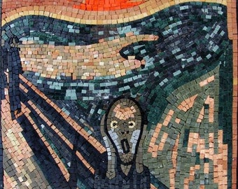 "Edvard Munch ""Scream"" - Mosaic Art Reproduction"