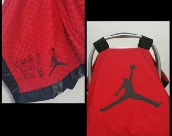 Jordan car seat canopy and blanket set
