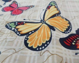 Fat quarters, butterfly fabric, cotton fabric, quilting fabric, sewing projects, quilt making, fabric art, fabric by the metre, print fabric