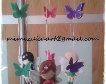 Fairy mobile, Móvil con hadas, mimizuku art