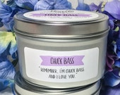 Chuck Bass | Limited-Release Candle | 8oz tin | Gossip Girl-Inspired Soy Candle