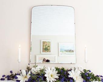 Antique Mirror Vintage Mirror Mid Century mirror Frameless Modernist Mirror Bevelled edge bevelled mirror M205