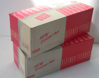 Kleenex Tissues / Old New Unused Stock / Pink Boxes / Soft PINK TISSUES from the past! / Economy priced