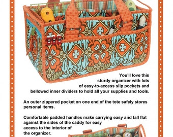 Catch All Caddy Pattern from By Annie, storage organizer pattern, sewing tool carrier pattern, tote pattern, fabric organizer
