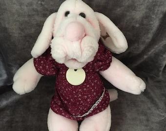 Vintage 1981 pink wrinkles dog puppet baby 1980353