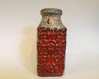 Bay Keramik 984 - 20, Bodo Mans design,   Vintage Mid Century  FAT LAVA Era 1960s /1970s colourful Vase  West Germany Pottery. WGP.