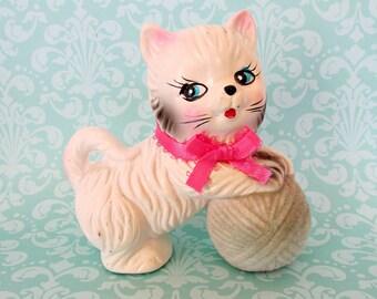 Vintage Ceramic Cat Kitten Japan Kitsch Anthropomorphic