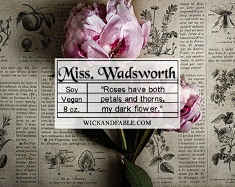Miss Wadsworth - Stalking Jack the Ripper Inspired Scented Soy Candle
