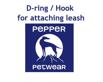 D-ring / Hook for attaching leash - only for small dogs