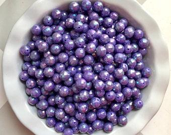 12mm Purple AB Disco Ball Chunky Bubble Gum Small Acrylic Beads