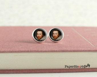 Shakespeare Earrings - Literary Earrings - Literature - William Shakespeare - (H4406)
