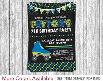 Roller Skating Invitation - Roller Skate Birthday Invitations - Roller Skating Party Invitations