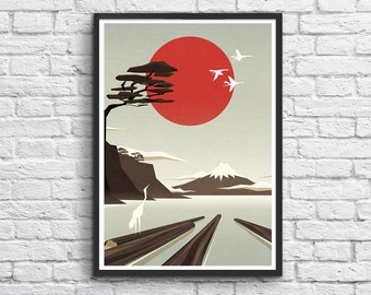 Art-Poster 50 x 70 cm - Japan poetic Landscape