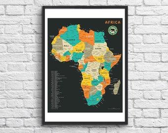 Art-Poster - 50 x 70 cm - Africa Map