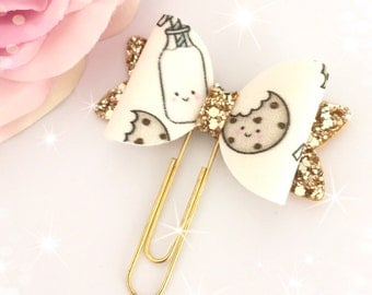 Cookies & Milk Fabric Bow Paperclip...