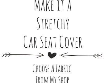 Stretchy Car Seat Cover, Stretchy Nursing Cover, Car Seat Cover, 4 in 1 Car Seat Cover, Personalized Car Seat Cover, Custom Car Seat Cover