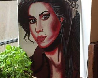 Amy Winehouse painting acrylic