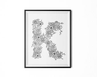 Floral Framed Letters