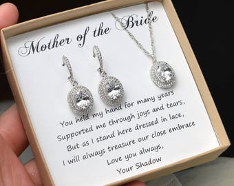 Mother of the Bride groom gift Bridal Jewelry set oval Crystal Wedding Jewelry Rose gold Bracelet  silver Gold Bridal Earrings  Jewelry set
