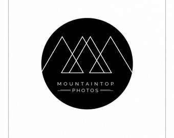 Mountain Logo | Modern Logo | Minimalist Logo | Geometric Logo | Photography Logo | Black and White | Premade Logo | Branding
