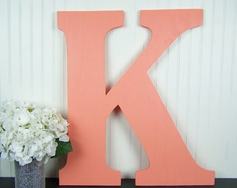 letter k wall art coral decor coral wedding decor 24 inch letter wooden k wedding letters wedding guest book alternative wedding photo prop