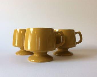 3 midcentury coffee mugs