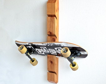 Skateboard Rack - Wall Mount Skateboard Display - 4 slots - 32